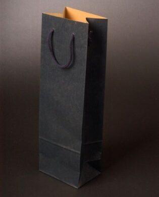 Taška na víno tmavě modrá Blu Glass 12x9x40cm - prodej k vašim vínům